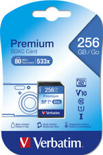 Verbatim SDXC Karte 256GB Speicherkarte Premium UHS-I Class 10