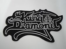 KING DIAMOND LOGO BLACK HEAVY METAL EMBROIDERED BACK PATCH