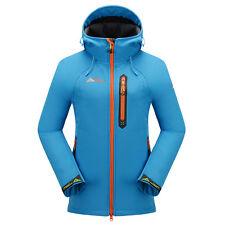 Women Ladies Soft Shell Hooded Sport Jackets Waterproof Outdoor Hiking Golf Coat
