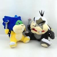 "7"" Super Mario Bros Koopalings Ludwig von & Morton Koopa Jr. Plush Toy Bowser X2"