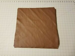 """Upholstery Leather - Brown 16"""" x 16"""" Squares"""