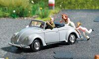 Busch 7823 NEW HO/OO Action Set: Please Push VW Hebmüller convertible & figures