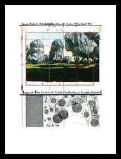 CHRISTO WRAPPED Trees n. IV Riehen poster immagine stampa d'arte nel quadro in alluminio 40x30cm