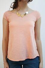 T-Shirt Asymétrique Orange Clair Promod, taille 36