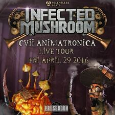 "INFECTED MUSHROOM ""CVii ANIMATRONICA LIVE TOUR"" 2016 PHOENIX CONCERT POSTER"