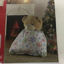 """Holiday Time Giant White 36"""" Gift Bag Snow Big Large Sack Christmas Plush Bear"""
