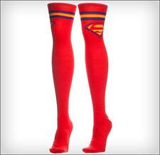 Superman Supergirl Logo DC Comics Costume Long Over The Knee High Boot Socks RED