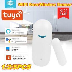 Tuya APP Smart Life WIFI Door&Window Alarm Sensor Detector For Google Alexa Home