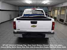 "60""x20"" REAR Window USA Flag BLUE Thin Line truck Decal Sticker police 4x4"