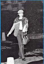 vintage photo princess Caroline de Monaco by paparazzi Angeli Paris France 1975