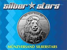1 Unze Silber Antique Finish 2013 Gabun / Gabon 1000 Francs Lion / Löwe nur 2000