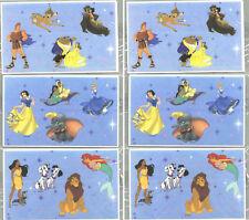 6 Sheets DISNEY Stickers! Dumbo Beauty & Beast Aladdin Hercules Pocahontas