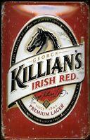 George Killians Irish Rojo Letrero de Metal 3D en Relieve Cartel Lata 20 X 30CM