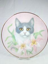 Vintage plate Hamilton Collection Bob Harrison Petals & Purrs Pink Lilies