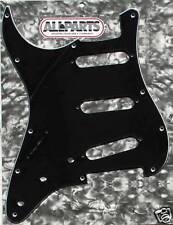 PICKGUARD SSS STRATOCASTER  NOIR GAUCHER Lefty black 3 ply 11H  PG0552-L33