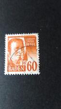 FRANCE 1947 OCCUPATION ALLEMAGNE BADE, timbre 10 HEBEL oblitéré, VF STAMP
