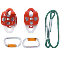 Hardware Kit 5:1 Mechanical Advantage for Pulley Dragging Hauling System Durable