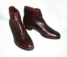 Spring Step Women's Stockholm Burgundy Leather Ankle Boots Sz 37/6.5 - 7
