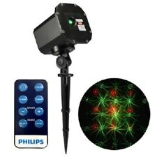 Philips 1ct Christmas Projector 12 Moving Patterns Red/Green Remote