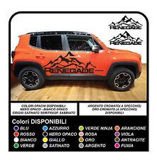 Adesivi laterali Jeep Renegade mountain - no adesivi stella militare ma montagna