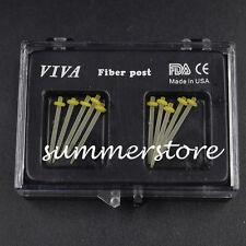 1.2MM Yellow Ring Dental Fiber Post Glass Set Refill Drill Thread Files Straight