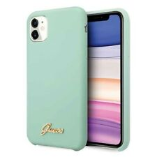 GUESS Soft Case iPhone 11 Green Hard Shell Silicone Vintage Gold Logo Cover Case