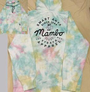 Mambo SMART ARTS Tie-Dye Hoodie Mens Multi Colour - SIZE LARGE - VGC