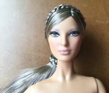 Nude Herve Leger Barbie Doll~ModelMuse~Louboutin Face~Braids/Ponytail~New