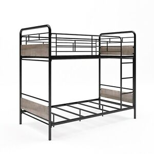 Better Homes & Gardens Anniston Twin Over Twin Bunk Bed, Metal Frames!