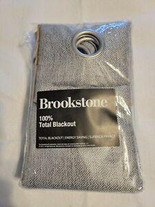 "Brookstone 63"" Zadie Grommet Blackout Window Curtain Panel - Gray"