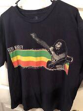 Zion Rootswear Bob Marley Love Reggae Rasta Black T-Shirts Men's Size XL