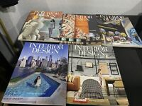 Interior Design Magazine 2017 February, June, July, September, and Oct. Lot of 5
