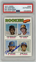 1977 BREWERS Jim Gantner signed ROOKIE card Topps #494 PSA/DNA Slab AUTO RC