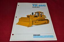 International Harvester Dressler TD-25G Crawler Tractor Dealer's Brochure RPMD