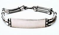 Vintage 925 Sterling Silver Solid ID Bracelet 7 Inches
