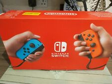 Nintendo Switch Console Improved Battery Neon Blue/Neon Red - EMPTY BOX ONLY