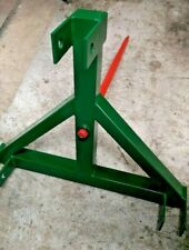 More details for bale spike tines tractor attachment 3 point linkage cat 1/ 2 frontrear loader