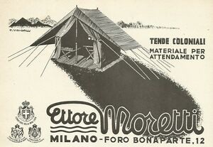 Y0106 Curtains Colonial Ettore Moretti - Advertising 1938
