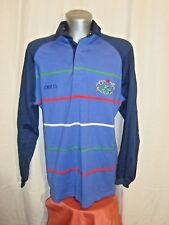 Men's O'NEILLS IRELAND l/s 6 Nations badges embro striped polo rugby shirt sz M