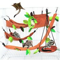 5Pcs Pet Hamster Bird Hanging Swing Hammock Rat Mouse Cage Rope Bed Toys