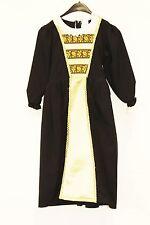 Girl's Black/Gold Rich Tudor Costume School Trips Plays 128 cm age 7/8 (6)