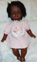 "Doll Black Vintage African  24"" Ideal Rare American 1972 1973 Grow Hair w/Dress"
