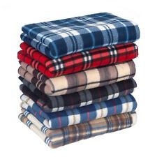 New Large Soft Warm Tartan Check Sofa Throw Bed Blanket Fleece 150 cm x 200 cm