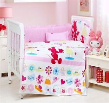 Baby Bedding Crib Cot Bumpers Quilt Sheet Set  -- 9 Pieces Minnie Mouse SKU 1722