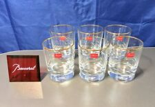 Baccarat Crystal Perfection Filet Or Verre Goblets 6 Bicchieri Acqua -NEW IN BOX