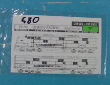 #580 N SCALE WALTHERS DECALS 93-92 UNION PACIFIC DIESELS MULTICOLOR