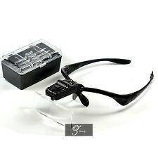 5 Lens Headset Magnifier Magnifying Glass Eyelash Extension LED & Hands Free