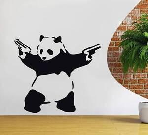 BANKSY PANDA Decal WALL STICKER Decor Street Art Vinyl Stencil Graffiti ST46