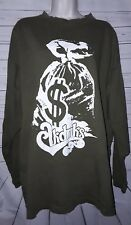 Akademiks Mens Graphic Long Sleeve Size XL Army Green