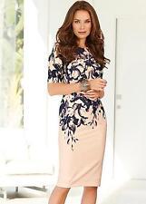 Kaleidoscope Floral Placement Print Dress Ladies UK Size 16 Box4573 F